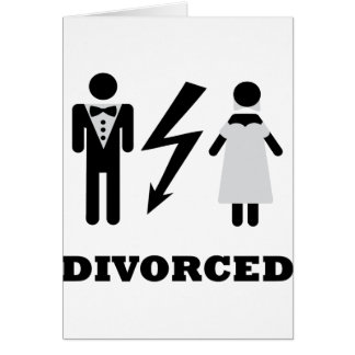 divorced icon greeting card