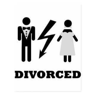 divorced icon postcard