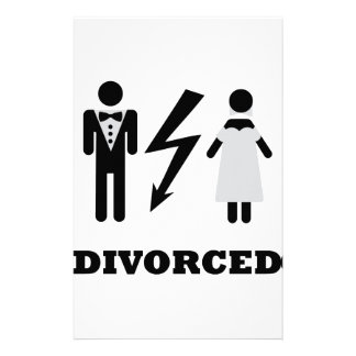divorced icon stationery paper