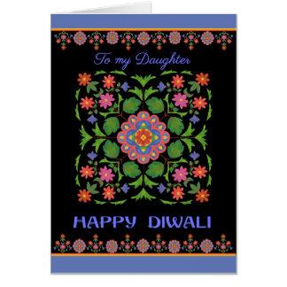 Diwali Card for Daughter Rangoli Pattern on Black