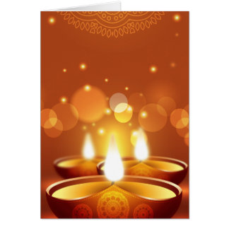 Diwali celebration golden Candles Card