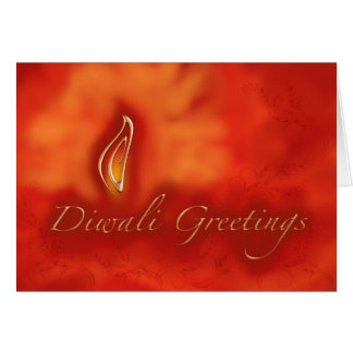 Diwali Devali Light Greetings - Warm Greeting Card
