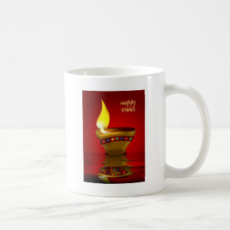 Diwali Diya - Oil lamp illustration Coffee Mug
