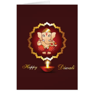 Diwali festival background card