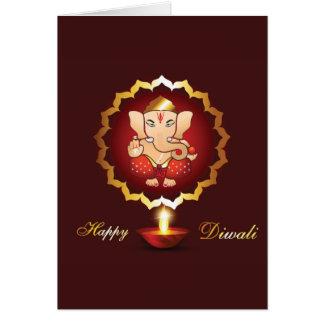 Diwali festival background greeting card