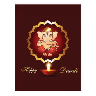 Diwali festival background postcard
