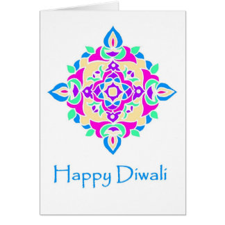 Diwali Greeting Card with Rangoli Pattern