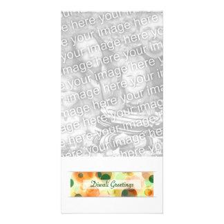 diwali greetings bokeh custom photo card