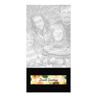 diwali greetings dark bokeh personalized photo card