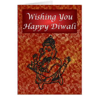 Diwali Indian Festival of Light with Ganesha Card