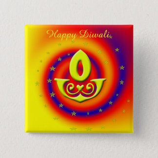 Diwali Lamp 15 Cm Square Badge