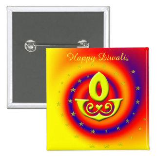 Diwali Lamp 15 Cm Square Badge