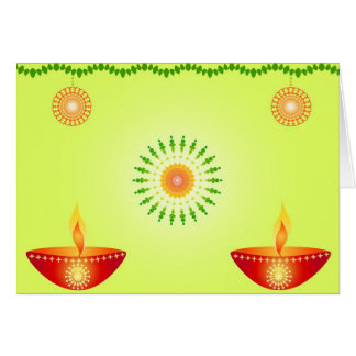 Diwali lamps - Card
