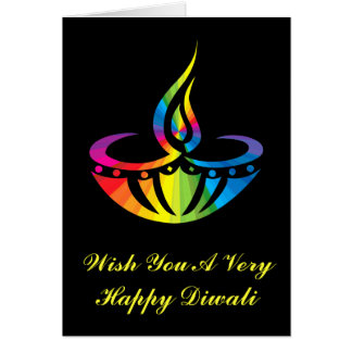 Diwali - Rainbow Lamp Card