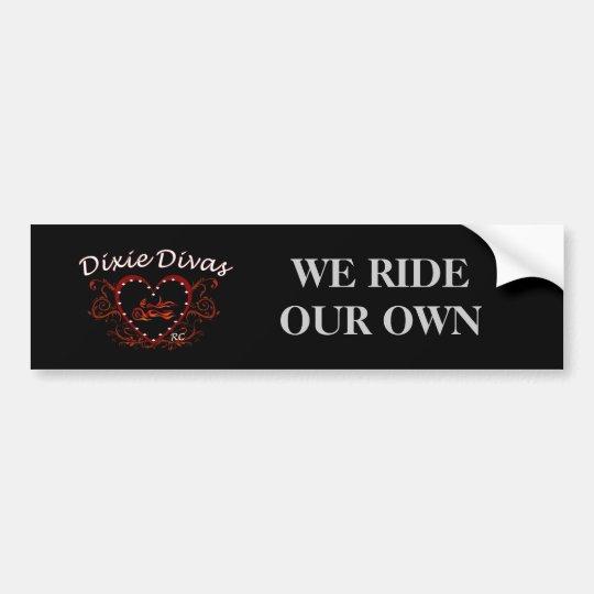 Dixie Divas Bumper Sticker