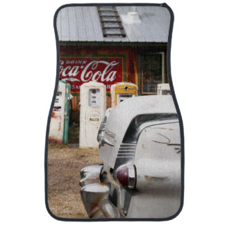 Dixon, New Mexico, United States. Vintage car Car Mat