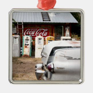 Dixon, New Mexico, United States. Vintage car Silver-Colored Square Decoration