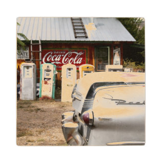 Dixon, New Mexico, United States. Vintage car Wood Coaster
