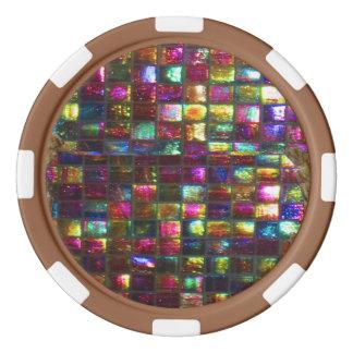DIY 256 background n edge color options dropdown Poker Chip Set