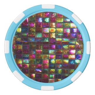 DIY 256 background n edge color options dropdown Poker Chips Set