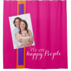 DIY - Add your only Photo & Background Colour Shower Curtain