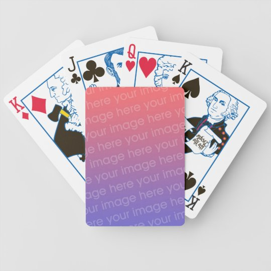 DIY Add Your Own Photo Custom Playing Cards
