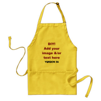 DIY Add Your Own Text and Image Custom Gift V6 Aprons