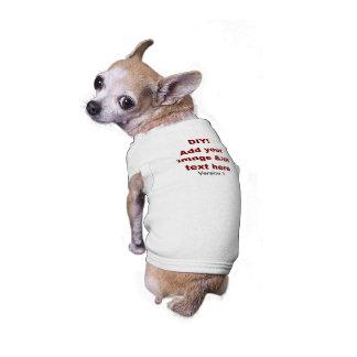 DIY Add Your Own Text and Image Custom V1 Sleeveless Dog Shirt