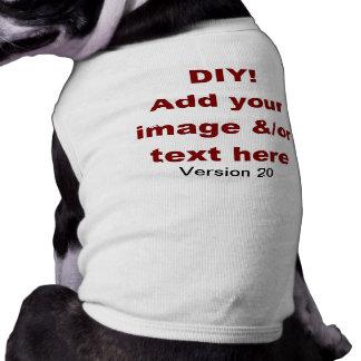DIY Add Your Own Text and Image Custom V20 Sleeveless Dog Shirt