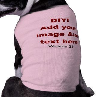 DIY Add Your Own Text and Image Custom V22 Sleeveless Dog Shirt