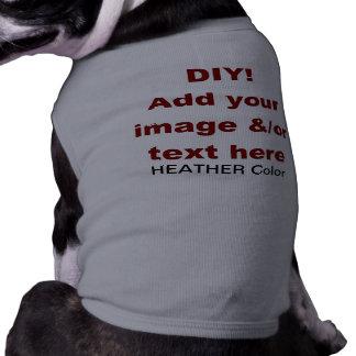 DIY Add Your Own Text and Image Custom V45C Sleeveless Dog Shirt