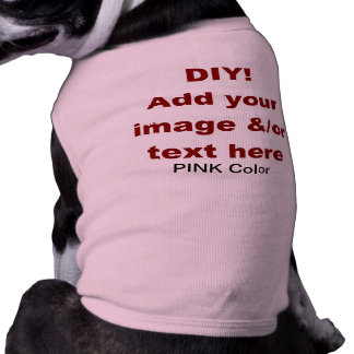 DIY Add Your Own Text and Image Custom V45D Sleeveless Dog Shirt