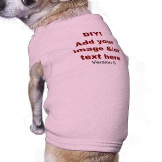 DIY Add Your Own Text and Image Custom V5 Sleeveless Dog Shirt