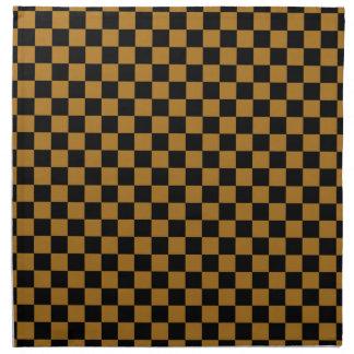 DIY Any Color/Matte Gold Checkered Napkin