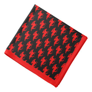 DIY Any Color/Red Race Horses and Border Bandannas