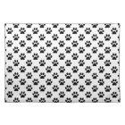 DIY Any Colour/Black Cat/Dog Paw Prints Placemat