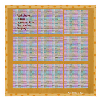 DIY Art Gold Border Template  - your text or image Poster