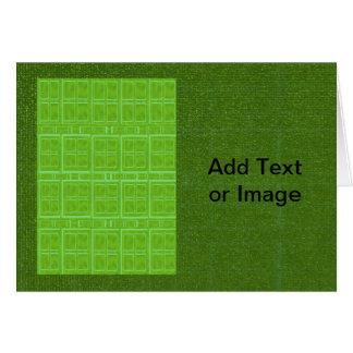 DIY Art Tools - ART101 Green Rich Surfaces Greeting Card