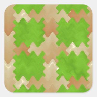 DIY Art Tools - ART101 Green Rich Surfaces Square Sticker