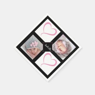 DIY Baby Girl Love Photos Disposable Napkin