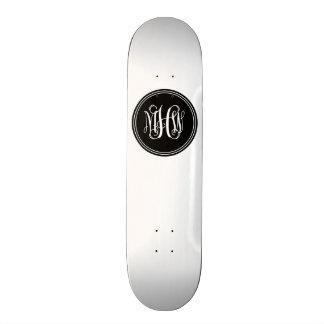 DIY Background, Black Vine Script Monogram Skate Boards