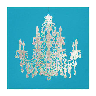 DIY Background/Faux Silver Chandelier Stretched Canvas Prints