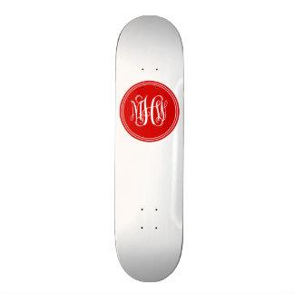 DIY Background, Red Vine Script Monogram Skateboard