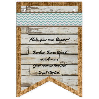 DIY Banner Barn Wood and Burlap Background Bunting