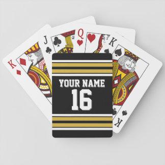 DIY BG Blk Gold Team Jersey Custom Number Name Playing Cards
