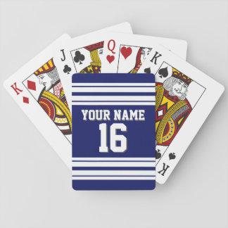 DIY BG Navy White Team Jersey Custom Number Name Playing Cards