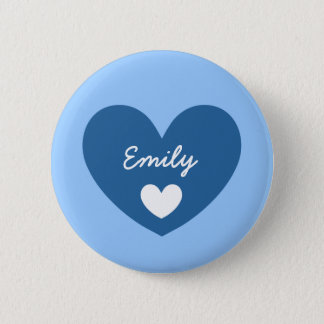 DIY Big Heart EMILY or ANY Name V05 6 Cm Round Badge