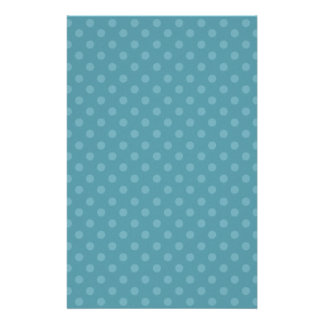 DIY Blue and Aqua Polka Dot Background Gift Item Stationery