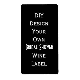 DIY  Bridal Shower Wine Label  Make Your Own V07 Shipping Label