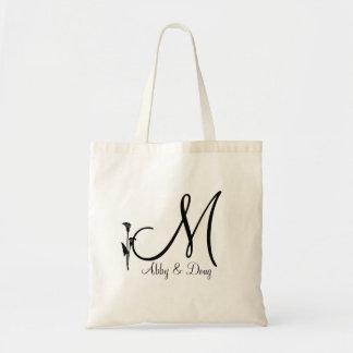 DIY Calla lily logo with monogram